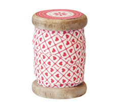GreenGate Geschenkband Haven Creme/Red