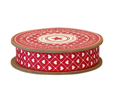 GreenGate Geschenkband Haven Red