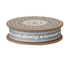 GreenGate Geschenkband Moments Warm Grey