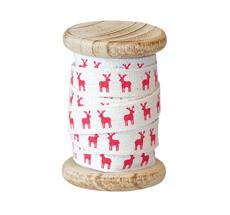 GreenGate Geschenkband Reindeer Red