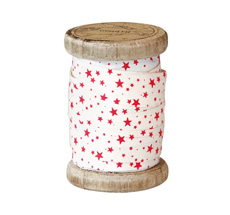 GreenGate Geschenkband Small Star Red