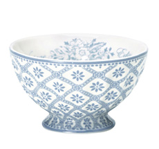 GreenGate French Bowl M Bianca Dusty Blue