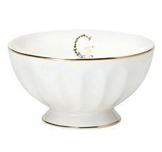 "GreenGate French Bowl XL ""G"" Gold"