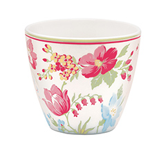 GreenGate Latte Cup Becher Donna White