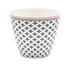 GreenGate Latte Cup Becher Sasha Dark Grey