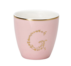 "GreenGate Mini Latte Cup ""G"" Pale Pink"