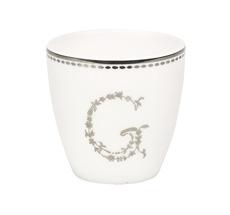 "GreenGate Mini Latte Cup ""G"" Silver"