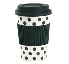 Miss Étoile Melamin Travel Mug Dots Weiß/Schwarz