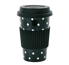 Miss Étoile Becher To-Go Black White Dots 0,5 L
