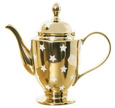 Miss Étoile Teekanne/Kaffeekanne Stars Gold/Weiß