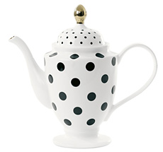 Miss Étoile Teekanne/Kaffeekanne Big Dots Schwarz