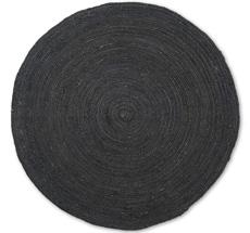 ferm LIVING Teppich Eternal Round Jute Small Black
