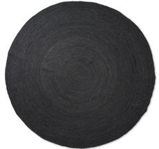 ferm LIVING Teppich Eternal Round Jute Large Black
