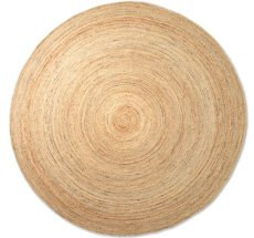 ferm LIVING Teppich Eternal Round Jute Large Natural