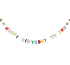 Meri Meri Mini Girlande Birthday
