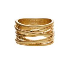 Dansk Smykkekunst Ring Tara Wrap It Vergoldet