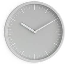 Normann Copenhagen Day Wanduhr Light Grey •