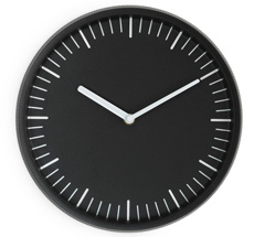 Normann Copenhagen Day Wanduhr Black •