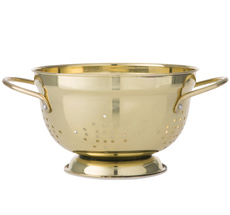 Bahne & Co. Küchensieb mit Henkel Gold