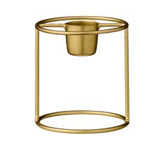 Bloomingville Kerzenhalter Gold Rund 4cm