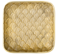 Bloomingville Tablett Gold Leaves 17x17cm •