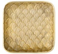 Bloomingville Tablett Gold Leaves 17x17cm •