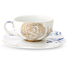 PIP Studio Teetasse mit Untertasse Royal White