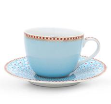 PIP Studio Espressotasse mit Unterteller Bloomingtales Blue