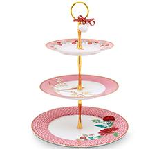 PIP Studio Etagere 3-stöckig Floral Pink