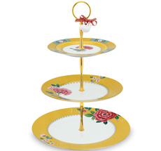 PIP Studio Etagere 3-stöckig Blushing Birds Yellow