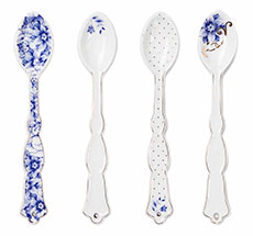 PIP Studio Porzellan Teelöffel 4er-Set Royal White