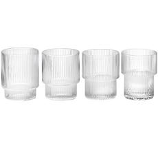 ferm LIVING Glas Ripple 4er-Set