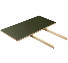 FDB Møbler C35 Verlängerungsstück Natur/Oliv Linoleum Oliv 90 cm