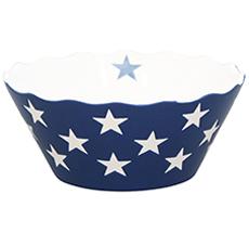 Krasilnikoff Schüssel Happy Bowl Stars Dark Blue S •