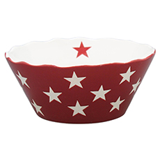 Krasilnikoff Schüssel Happy Bowl Star Red S •