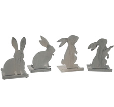 Krasilnikoff Deko-Figur Bunny 4er-Set