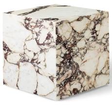 Menu Plinth Tisch Cubic Rose Calacatta Viola Marble