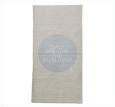 Bloomingville Teppich-Läufer Smile Breathe Move Natur/Grau •