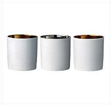 Bloomingville Porzellan-Windlicht Gold/Silber/Kupfer