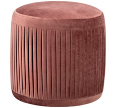 Bloomingville Pouf Pleat Rose