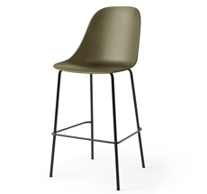 Menu Harbour Side Barstuhl Black Steel Base/Olive Shell