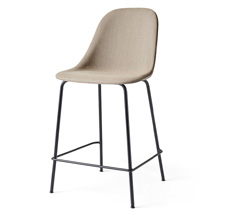 Menu Harbour Stuhl Side Counter Chair Black Steel Base/Remix