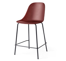 Menu Harbour Stuhl Side Counter Chair Black Steel Base/Burned Red Shell