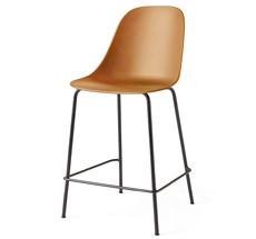 Menu Harbour Stuhl Side Counter Chair Black Steel Base/Khaki Shell