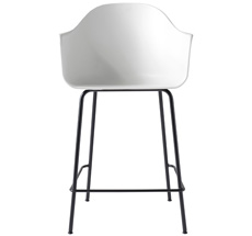 Menu Harbour Stuhl Counter Chair White Shell/Black Steel Base