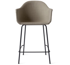 Menu Harbour Stuhl Counter Chair gepolstert Remix/Black Steel Base