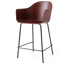 Menu Harbour Stuhl Counter Chair Black Steel Base/Burned Red