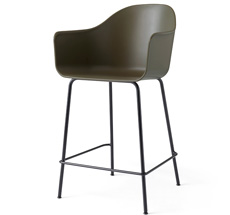Menu Harbour Stuhl Counter Chair Black Base Olive