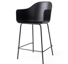 Menu Harbour Stuhl Counter Chair Black Steel Base/Black Shell