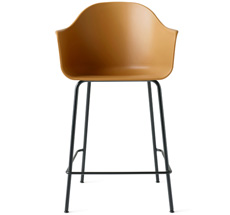 Menu Harbour Stuhl Counter Chair Black Steel Base/Khaki Shell